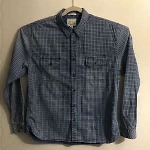 Lucky Brand blue check button up. XLarge
